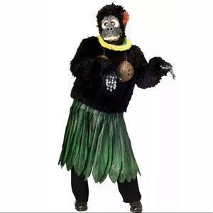 🆕 ALOHA GORILLA Men's Halloween Costume Funny Lei